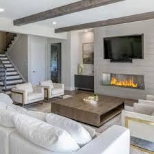 Image Cozy Example Of Huge Minimalist Open Concept Medium Tone Wood Floor And Brown Floor Living Room Houzz 75 Most Popular Modern Living Room Design Ideas For 2019 Stylish