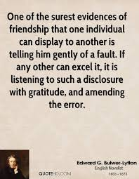 Edward G BulwerLytton Friendship Quotes QuoteHD Unique Amending Friendships Quotes