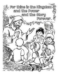 Small Picture Free Lords Prayer Coloring pages for children and parents