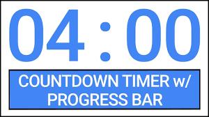 Timer 4 Min 4 Min Countdown Timer W Progress Bar Timer Countdown