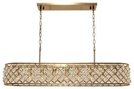 cassiel 40 rectangular crystal drop chandelier brass