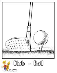 Small Picture Gallant Golf Coloring Pages Clubs Golf Course Free Golfers