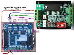 newbie single axis tb6560 driver and breakout board wiring single axis tb6560 driver and breakout board wiring connect jpg