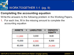 century 21 accounting 2009 south western cengage learning work together 1 1