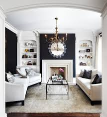 accent walls navy and white