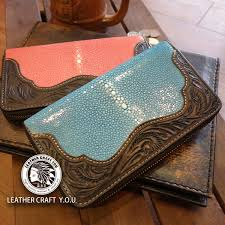 leather wallet zip type saddle leather leather stingray rays leather zipper type wallets wallet leather