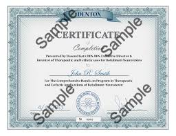 Certificate Of Completion Training Interesting Botox Training For Medical Professionals Online