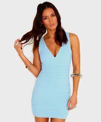 Beautifully Bold Light Blue Bodycon Dress