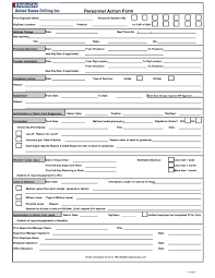 Employee Information Form Personnel Actionte Printable Forms