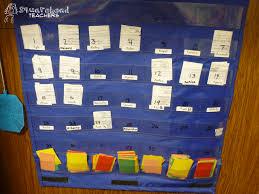 Teacher Pocket Chart Keeping Track Of Important Student Paperwork Squarehead