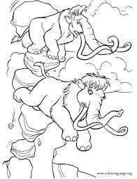 Small Picture Ice Age Manny and Ellie in trouble coloring page