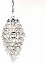 af lighting 8122 1h elements crystal teardrop mini chandelier