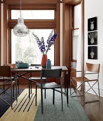 Minimalist Dining Room With Cb2 Code Area Rug And Hacienda Dining