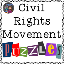 Civil Rights Movement Puzzles Word Search Social Studies And