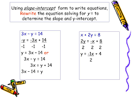 writing equations in slope intercept form worksheet with answers