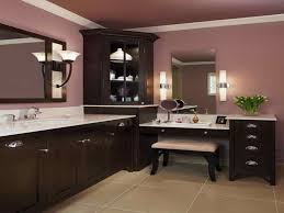 corner makeup vanity table with brown