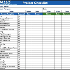 Checklist Template Word Project Checklist Template Word World Of Example For Project