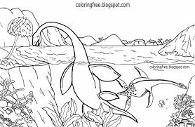 Drawing Pages Sea Dinosaur Drawing For Children Ocean Coloring Pages Printable