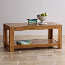 Quercus Coffee Table In Rustic Solid Oak Oak Furniture Land In Addition To  Interesting Solid Oak