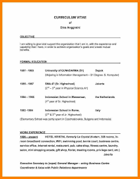 9 Curriculum Vitae Objectives Sample Hr Cover Letter