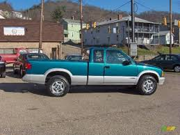 1995 Bright Teal Metallic Chevrolet S10 LS Extended Cab 4x4 ...