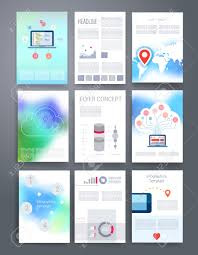 marketing brochure templates set  templates vector flyer brochure magazine cover template can use for print and marketing