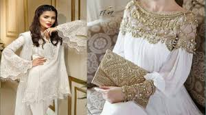 Top Designer Dresses 2018 Top Stylish White Suit Design White Grown Collection Designer Dress 2018