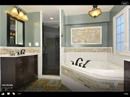 Half Tile, Half Painted Wall Only With More Bold Colors In The Tile And  Wall. Would This Make Our Hallway Bathroom Look Smaller?