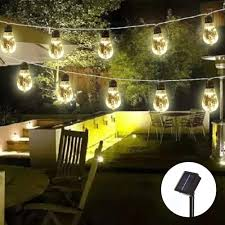 Solar Powered Retro Style String Light Bulbs Obrecis Solar Power 10 Bulb String Light Warm White Vintage Edison Style Hanging Twinkle Lights For Yard Tents Market Cafe Gazebo Outdoor