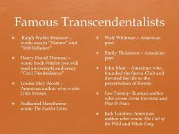 transcend to go beyond ppt  8 famous transcendentalists