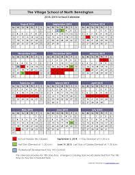 School Calendar Template 2015 2020 2014 2015 School Calendar The Village School Of North