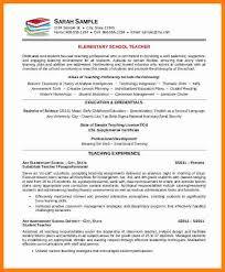 Teacher Curriculum Vitae Fascinating 48 Curriculum Vitae For Elementary Teachers Theorynpractice