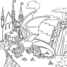 dragon pictures to print and color. Exellent And Cool Magic Castle In The Sky Fire Dragon Coloring Pictures To Print And  Color Worksheets On Dragon Pictures To Print And Color E