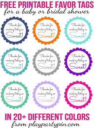 Free Printable Favor Tags Free Printable Baby Shower Favor Tags In 20 Colors Play