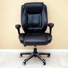real space office chair new black leather