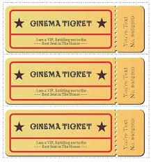 Ticket Templates Download 6 Professional Movie Ticket