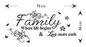 Emmijules Wandtattoo Spruch Sprüche Family Where Life Begins