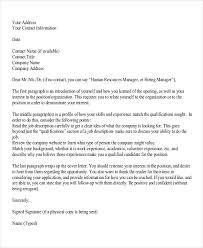 Sample Human Resources Cover Letters 8 Job Application Letters For Hr 8 Free Word Pdf Format