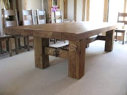 large wood dining room table dining tables captivating large rustic table square intended for room remodel