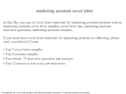 Marketing Sample Cover Letter – Resume Letter Collection