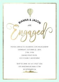 Party E Invites Love Is In The Air Engagement Invitations