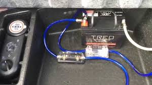 battery isolator relay fuse holder and chassis ground for car random car audio capacitor wiring diagram