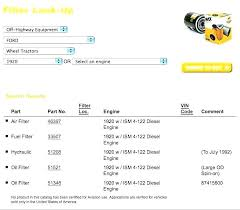 Fuel Filter Cross Reference Catalogue Of Schemas