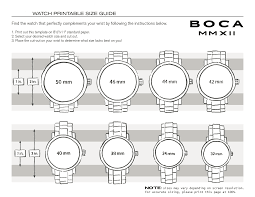 Watch Diameter Chart Watch Size Guide Boca Mmxii Official Website
