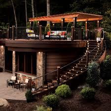Deck lighting Stair Trex Deck Lighting The Family Handyman Trex Deck Lighting Wimsatt Building Materials