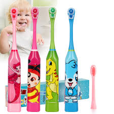 Cartoon Pattern <b>Children Electric Toothbrush</b> Double sided Tooth ...