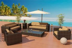 ... Beautiful Modern Outdoor Wicker Patio Furniture. Alexandria Sofa Set 7, Made  of Bronze Viro ...