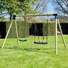 details about rebo junior range wooden garden swing set junior meteorite