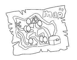 Small Picture coloring page treasure map color online coloringcrew 762489