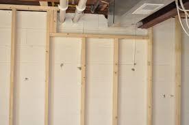 finishing a basement day 1 framing
